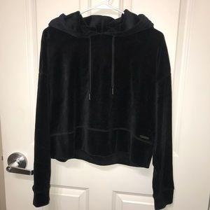 Calvin Klein black velvet hoodie